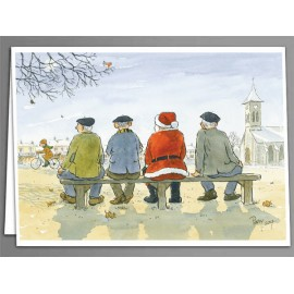 Father Christmas and friends - greeting card