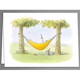 Champagne Hammock x 5 greeting cards
