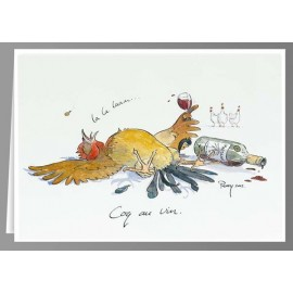 Coq au Vin greeting cards
