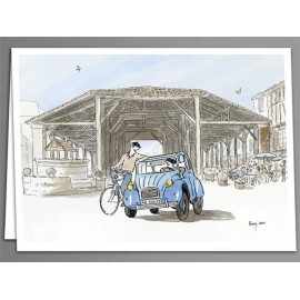 2CV Bassoues greeting cards