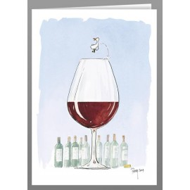 There's a duck in my wine, greeting cards