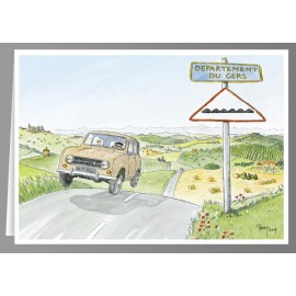 Renault 4 Gers greeting cards