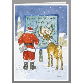 Plan du village, Christmas cards