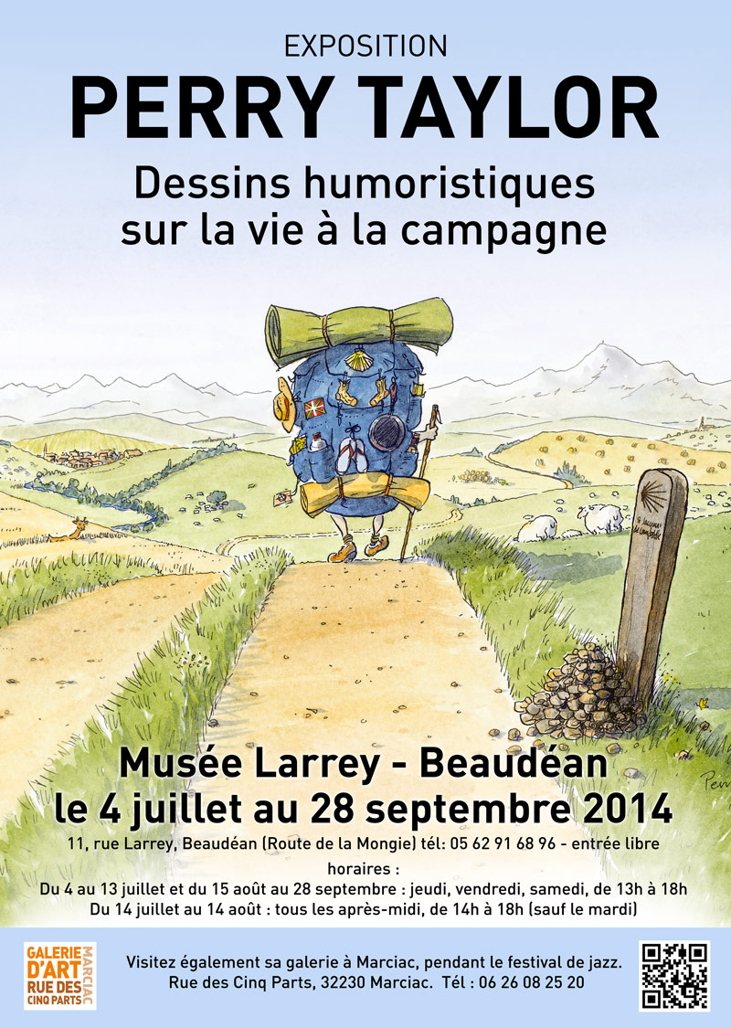 poster for exhibition Musée Larrey, Beaudéan