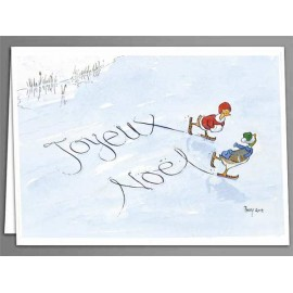 Joyeux Noel Skaters, greeting cards