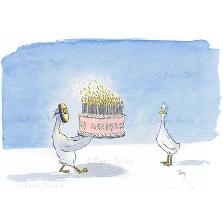 Birthday cake ducks