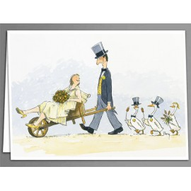 Wheelbarrow Wedding greeting cards