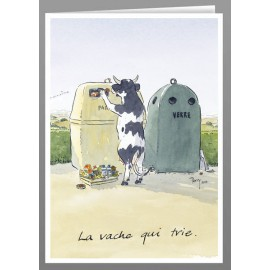 La vache qui trie greeting cards