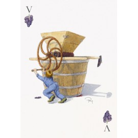 Playing card wine Jack