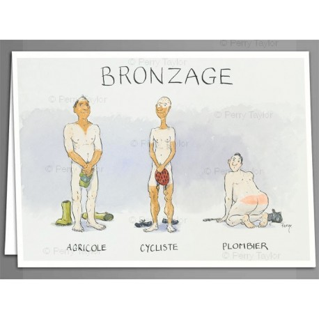 Bronzage greeting cards