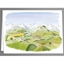 Sleeping landscape greeting cards