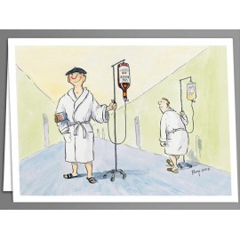 Get well wine x 5 greeting cards