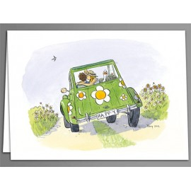 2CV Happy x 5 greeting cards