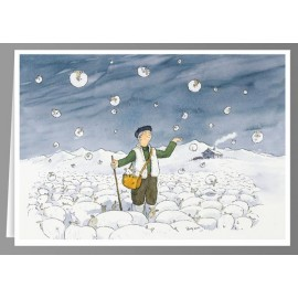 Snowing sheep - greeting cards