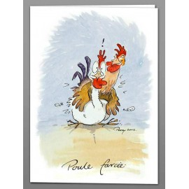 Poule Farcie greeting card