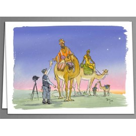 Three kings breathalyser test Christmas cards