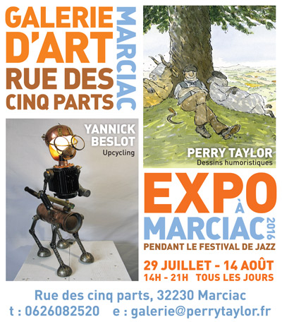 Marciac 2016 galerie rue des cinq parts