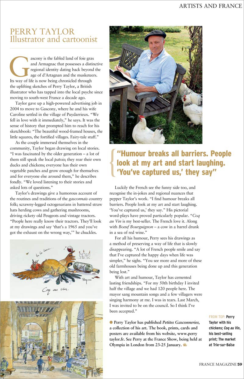 Article in France magazine feb 2015