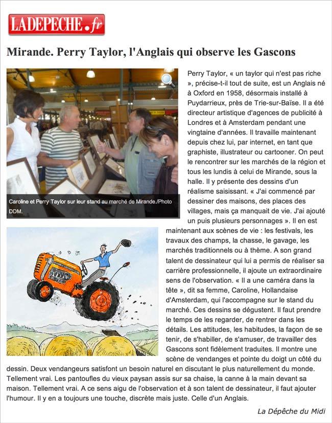 article La Depeche 2011