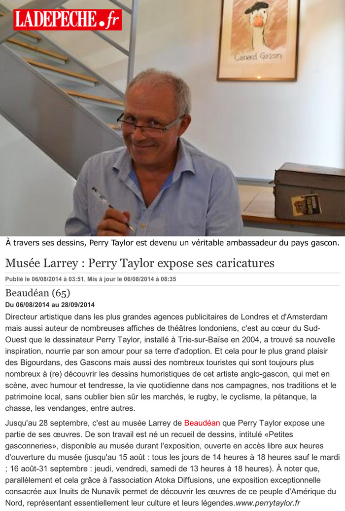 article Perry Beaudean expo